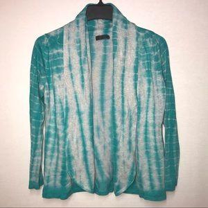 Lyn Anthropologie Tie Dye Sweater Cardigan L